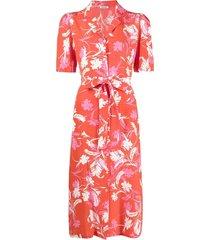 p.a.r.o.s.h. floral-print camp collar dress - red