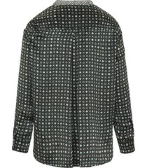 blouse van 100% zijde van marella multicolour