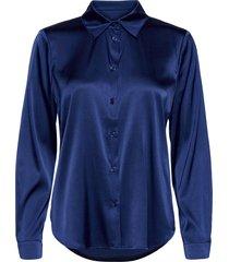 3176 - latia overhemd met lange mouwen blauw sand