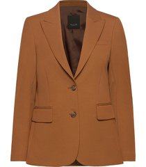 3596 - ginette pointy blazer colbert bruin sand