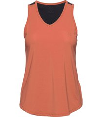 adv charge perforated singlet w t-shirts & tops sleeveless orange craft