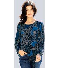 blouse alba moda royal blue::marine