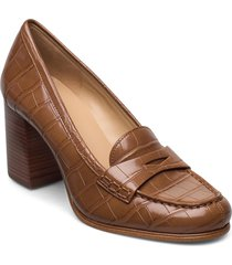 buchanan mid loafer shoes heels pumps classic brun michael kors shoes