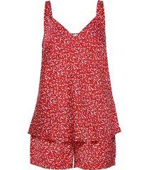 cami short set print pyjamas röd tommy hilfiger