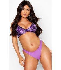 mix & match snake underwired bikini top, purple