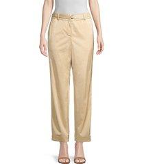 lafayette 148 new york women's dekalb relaxed-fit satin pants - stone - size xl
