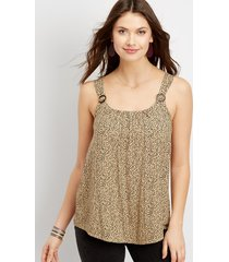 maurices womens tortoise ring tank beige