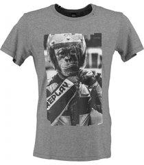 replay grijs stevig zacht soepel slim fit t-shirt