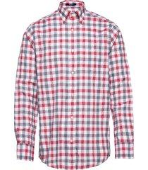 d1. tp oxf heather gingham reg lbd overhemd casual rood gant