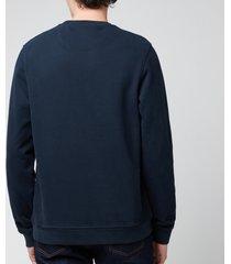 belstaff men's patch logo sweatshirt - dark ink - xxl