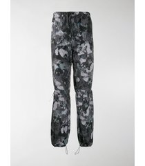 marcelo burlon county of milan high-rise camouflage-print track pants