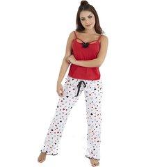 pijama dos piezas pantalón largo y blusa mujer – bésame