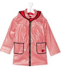 sonia rykiel gingham coated jacket - red