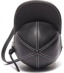 midi cap crossbody leather bag