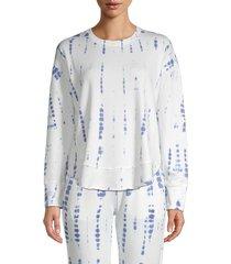 pure navy women's tie-dye sweatshirt - white blue - size xs