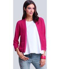 vest alba moda pink::zilverkleur