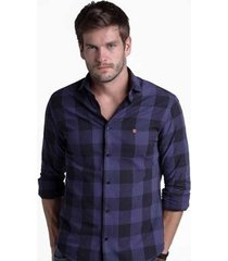camisa buckman casual xadrez masculina