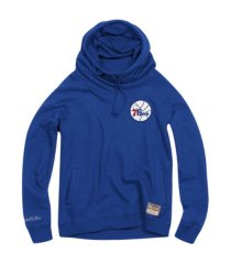 mitchell & ness women's philadelphia 76ers funnel neck fleece hoodie