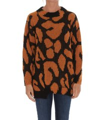 stella mccartney animal big leopard sweater