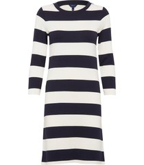 d2. barstriped jersey dress jurk knielengte multi/patroon gant