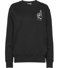 hugh sweatshirt sweat-shirt trui zwart wood wood