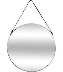 lustro wiszące okrągłe na pasku 38 cm