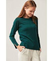 zielona bluzka dzianinowa z wełny merino