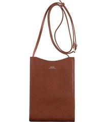 a.p.c jamie neck pouch | noisette |  pxbmw-h63043