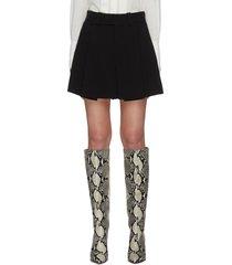 pleat mini skirt
