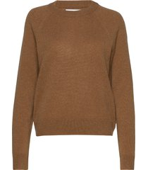 boston o-neck 6304 stickad tröja brun samsøe samsøe