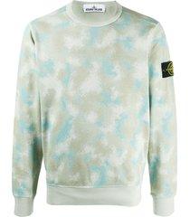 stone island camouflage print sweatshirt - grey