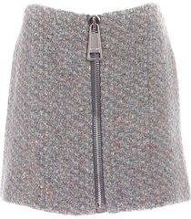 maxi zip skirt in grey