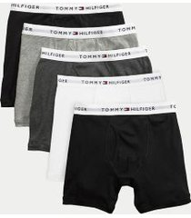 tommy hilfiger men's cotton classics boxer brief 5pk black/grey/white - xxl