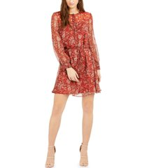 french connection esi printed crinkle dress