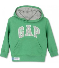 poleron toddler boy con gorro verde gap