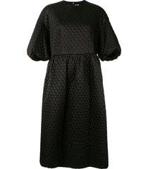 comme des garçons noir kei ninomiya quilted dress - black