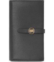 burberry leather folding wallet - black