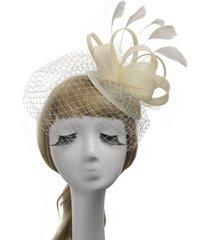 sombrero de copa de las mujeres sombrero de lino retro británico malla