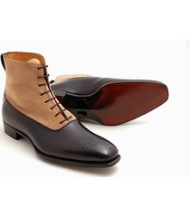 handmade brogue black brown leather boots dress casual latest formal ankle boots