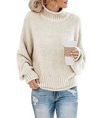 alto cuello suéter de manga larga