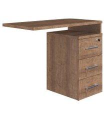 mesa auxiliar para escritório artesano ative 90cm vermont