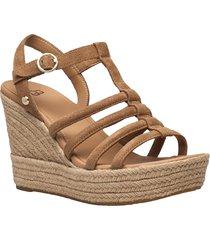 w cressida sandalette med klack espadrilles brun ugg