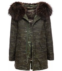 camou new york light parka midi