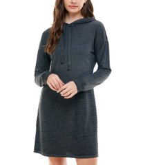 planet gold juniors' french terry hoodie dress