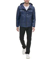 kenneth cole new york men's quilted hooded packable jacket
