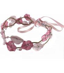 headband fuxicos e frescuras coroa de fada dupla dois tons de rosa