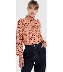 blusa coral-vinotinto glamorous