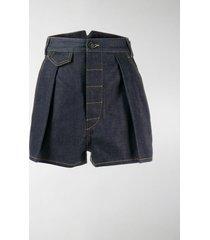 dsquared2 high waisted denim shorts