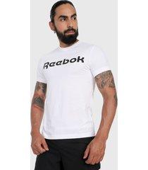 camiseta blanco-negro reebok linear logo