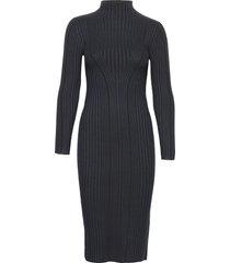 jolie knits mock neck dress knälång klänning blå french connection